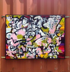 @ Spruce Street Harbor Park   Mat Tomezsko is an artist making process-oriented paintings inspired by natural and urban textures and patterns. He installed a weather-proof painting on canvas onto an existing structure in the park.