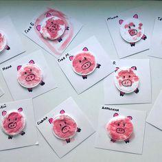 Поделки и игры для детей Pig Crafts, New Year's Crafts, Diy And Crafts, Paper Crafts, Projects For Kids, Diy For Kids, Crafts For Kids, Kids Wraps, Sunday School Crafts