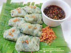 Chive Dumpling Recipe, Authentic Thai Food, Thai Recipes, Fresh Rolls, Thai Food Recipes