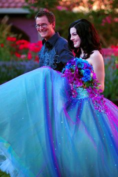 Gorgeous blue and purple dress
