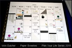 All I Do Is Stamp-- Designs by Vicki Dutcher: A NEW Team! Paper Sweeties Life Planner Series 2018
