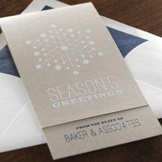 Snow CrystaleInviteBusinessHoliday Cards