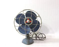 Vintage Handy Breeze Electric Fan 1950s Desk Fan by GizmoandHooHa