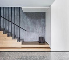 Stairway to. Project by Photography Styling Assist House Color Schemes, House Colors, Kitchen Built Ins, Timber Stair, Home Bar Areas, Gym Room At Home, Concrete Stairs, Budget Patio, Polished Concrete