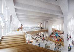 22,000sqm 연면적의 복합문화 공간은 이스트 빌리지와 캘거리 중심부를 연결하는 교차점에 위치하며 도시와 사람을 연결하는 노드점으로 제안된다. 도시의 작은 언덕을 모티브로 디자인된 건축환경은 유연한 구조체와 다양한 형태로 적층되는 테라스 그리고 도시를 연결하는 경전철 라인 위에 구성된다. 건축물 주출입구, 그랑드 아치는 치누크 클라우드를 차용한 디자인으로 거주민들의 다양한 소셜활동을 보장하는 아트리움에..