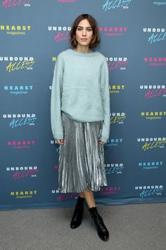 Alexa Chung - What to Wear on Thanksgiving: Celebrity-Inspired Outfit Ideas - Photos