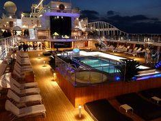Pool Deck at Night ~ Cruise