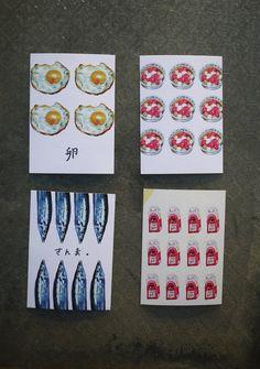 萬用食物明信片組(四入) - 設計師 冰菓室 - Pinkoi