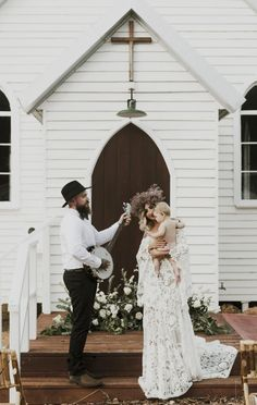 a banjo, a baby, a boho babe and her beau - beautiful bohemian wedding inspiration