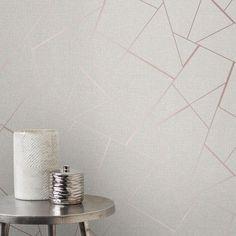 Fine Decor Quartz Fractal Wallpaper Beige and Rose Gold FD42282