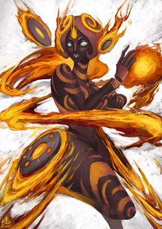Goddess of Fire by Ry-Spirit.deviantart.com on @deviantART