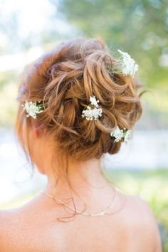 Featured Photographer: Thisbe Grace Photography; Wedding hairstyle idea.