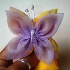 How to make a fabric butterfly