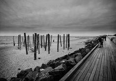 esbjerg strandpromenade spektrum arkitekter (4) Walk This Way, Denmark, Arch, Urban, Black And White, Places, Cbr, Photography, Happy Hour