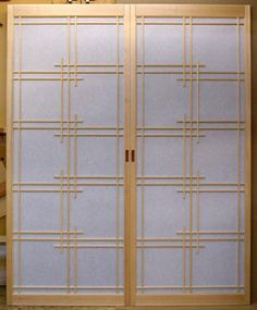 One of our fancy kumiko patterns, these shoji screens came together beautifully.