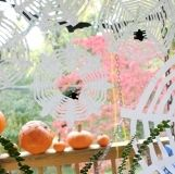 Coffee Filter Spiderwebs with Spiders  and 30 other fall crafts