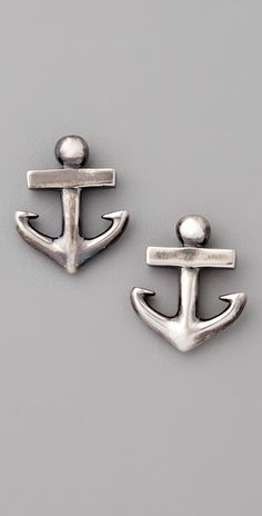 elizabeth and james anchor stud earrings