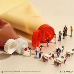 Tanaka Tatsuya - miniature-calendar-dioramas 1-136856