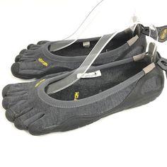f8616ba17c4a Vibram FiveFingers SmartWool Womens Size 40 Classic Running Toe Shoes Gray  Black