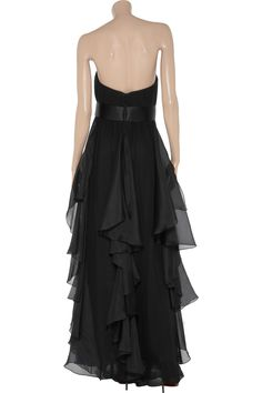 Notte by Marchesa Gathered silk-chiffon and organza gown - 60% Off Now at THE OUTNET