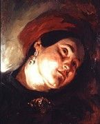 """New artwork for sale! - """" Head Of A Woman In A Red Turban 1831 by Delacroix Eugene """" - http://ift.tt/2AkXwqi"""