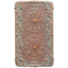 Whitehall Products Acanthus Indoor/Outdoor Wall Clock And Thermometer    01274
