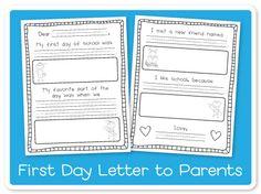 Back-2-School FREEBIE {Letter to Parents}