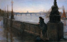 Thomas Alexander Ferguson Graham (British 1840 - 1906) Alone in London, ca. 1904