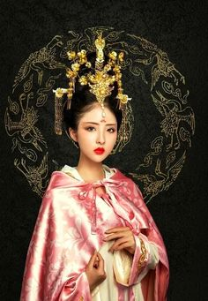 Asian Lady in Pink Traditional Fashion, Traditional Dresses, Traditional Chinese, Asian Style, Chinese Style, Asian Woman, Asian Girl, Pretty Asian, Chinese Clothing