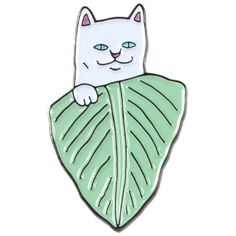 Nermal Leaf Pin RIPNDIP (135.650 IDR) ❤ liked on Polyvore featuring jewelry, brooches, ripndip, pin jewelry, leaves jewelry, leaf brooch and leaf jewelry