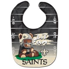 New Orleans Saints Teddy Bear All Pro Baby Bib