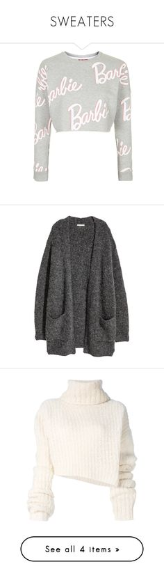 """SWEATERS"" by kayemjay ❤ liked on Polyvore featuring tops, sweaters, crop tops, topshop, shirts, grey, gray crop top, print sweater, gray cropped sweater and shirt sweater"