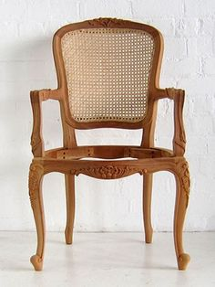 wooden chair with arms. louis rattan salon chaira popular french provincial back armchair with cabriole legs and open arms wooden chair