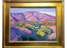 Exclusive to One Kings Lane: This original landscape from Ray Cuevas demonstrates an extraordinary mastery of color and light. Displayed in a…
