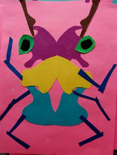Da Vinci's Wings: 1st Grade Insect Collages