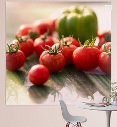 Lust auf frisches in der Wohnung. Hier ein frisches Tomaten Paprika Bild. Für die Wand, den Sommer aus dem Garten eingefangen.