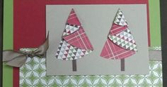 Isn't this a cute card? We learned how to make this folded Christmas Tree at our last demonstrator meeting. I've seen cards like this . All Things Christmas, Christmas Cards, Christmas Decorations, Christmas Tree, Holiday Decor, Paper Trees, Fall Cards, Card Tags, Cute Cards