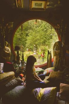 Don't think this is a Yurt but i like how there are lots of pillows and blankets on the floor. This is how I want my Yurt to look inside :)