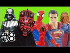 #8 Abrindo Star Wars Guerra nas Estrelas:  Darth Maul Darth Vader Homem ...