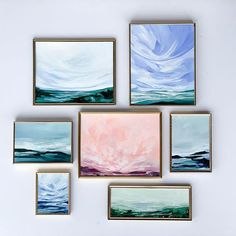 artwork by Bellingham based Artist Kendra Castillo Sky Painting, Pallet Painting, Impressionist Paintings, Landscape Paintings, Landscapes, Original Artwork, Original Paintings, Step By Step Painting, Gallery Walls
