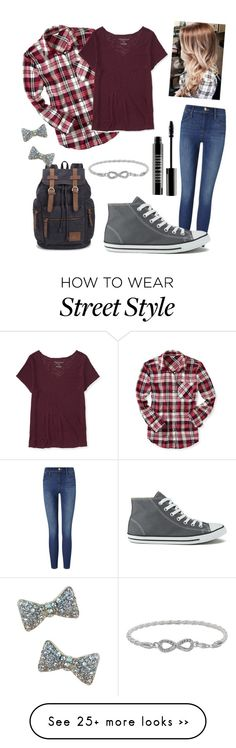 """Falling in style"" by vanessa-cakes on Polyvore featuring Frame Denim, Aéropostale, Converse and Lord & Berry"