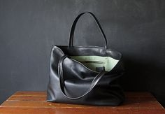 leather tote by beesnetta (want!!)