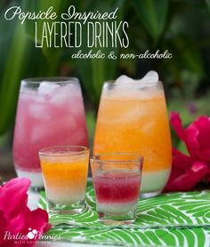 Layered Popsicle Inspired Drinks