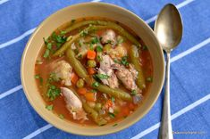 Chicken soup with vegetables simple recipe Goulash, Chicken Soup, I Foods, Thai Red Curry, Stew, Soup Recipes, Easy Meals, Vegetables, Cooking