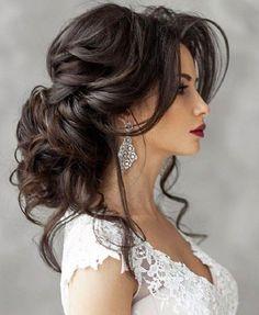 Best wedding hairstyles updo medium length half up 67 ideas Wedding Hairstyles For Long Hair, Bride Hairstyles, Trendy Hairstyles, Shaggy Hairstyles, Hairstyle Wedding, Curly Haircuts, Hairstyles 2016, Updo Hairstyle, Hairstyle Ideas