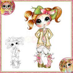 Sherri Baldy My Besties Clear Stamp - Messy Jessy Olivia Odd Socks