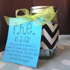 The Art of Choosing Joy: Activity Day or YW Activity Idea- Family Home Evening in a Jar