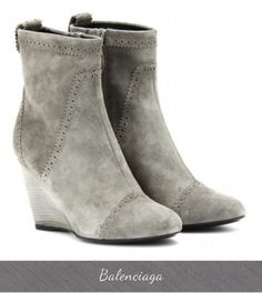 Balenciaga Suede Boots, Fall Winter 2013 Boots, Grey Suede Boots, Ankle Boots