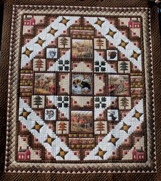 Go look at our world-wide-web site for a whole lot more on the subject of this unbelievable photo Western Quilts, Country Quilts, Log Cabin Quilt Pattern, Log Cabin Quilts, Cute Quilts, Mini Quilts, Wildlife Quilts, Homemade Quilts, Quilting Designs