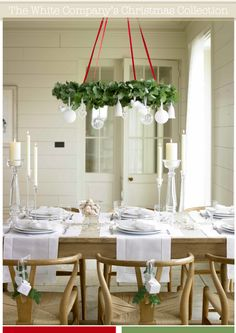 White table runners and placemats